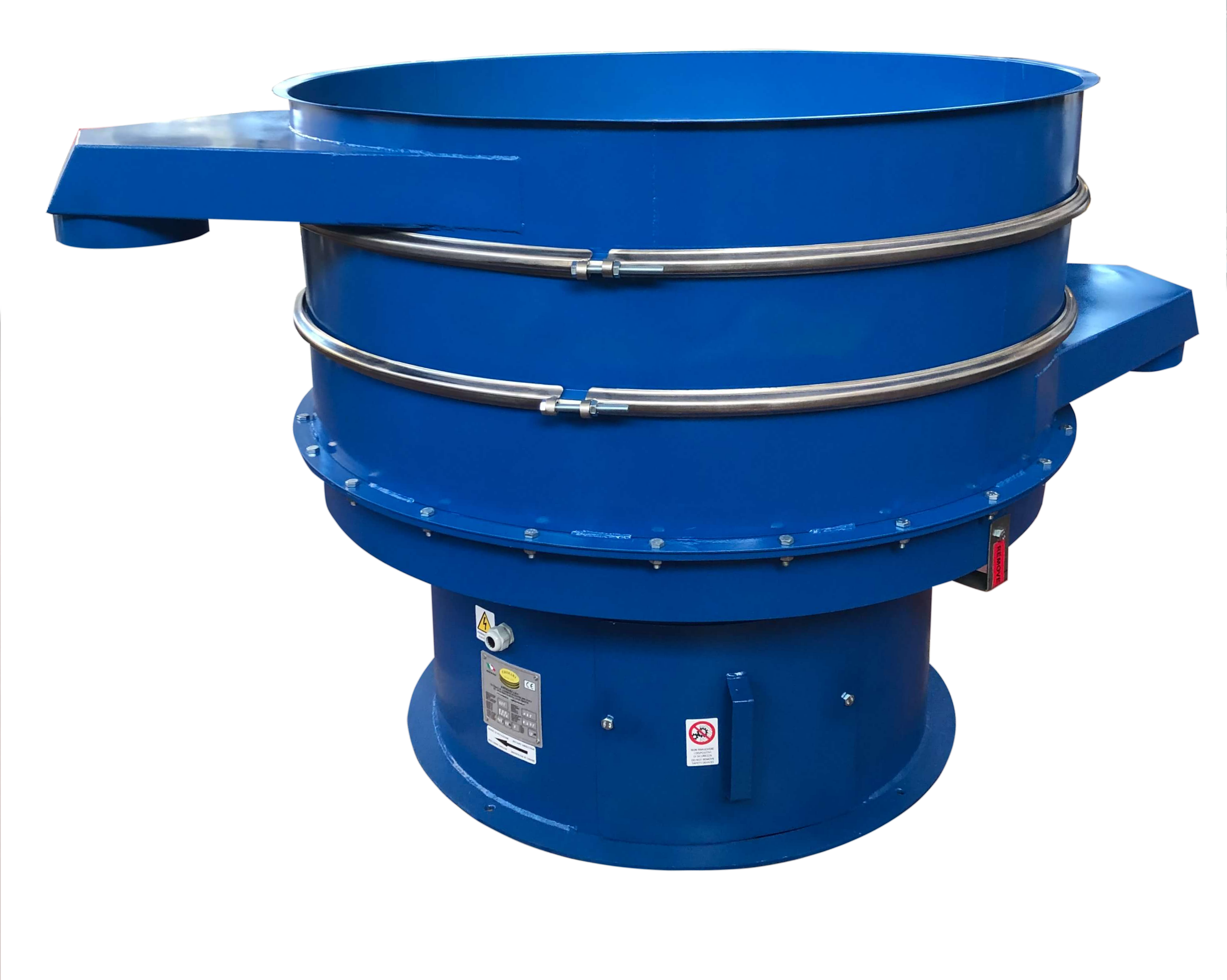 Vibrating sieve for solids and liquids