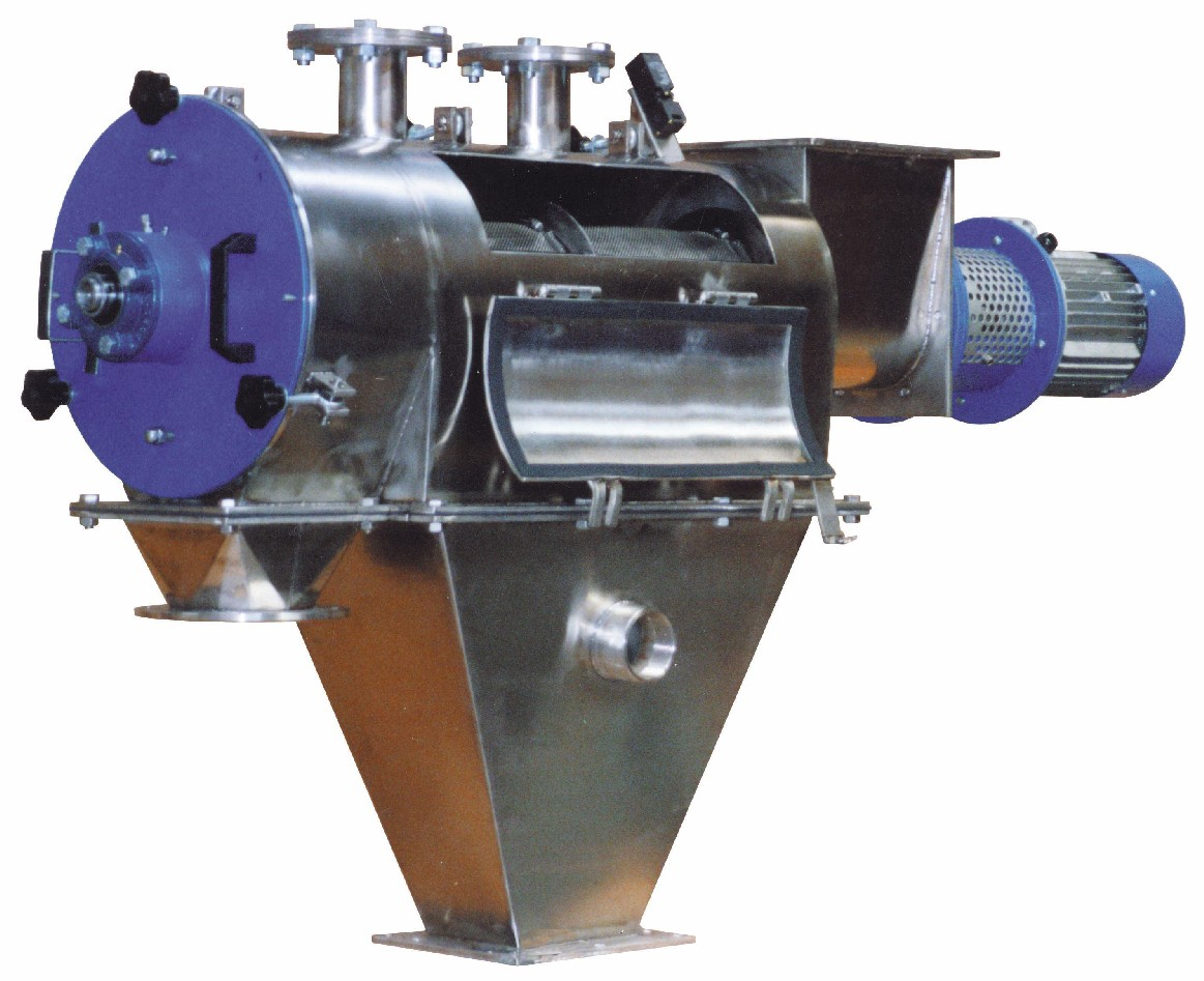 Refine products with a rotary separator