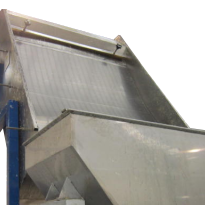 Close up of static screen separator sieve