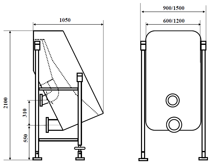 technical drawing of our static screen